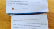 2ª ENTREGA DE MASCARILLAS A LOS NIÑOS DEL INSTITUTO Y DEL COLEGIO
