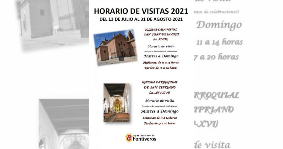 HORARIO DE VISITAS 2021
