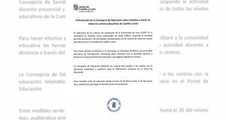 COMUNICADO CANCELACION DE CLASES