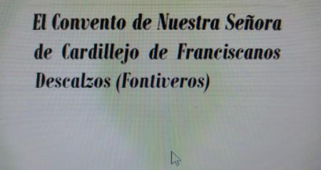 CONVENTO DE CARDILLEJO