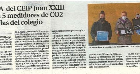 ENTREGA DE MEDIDORES CO2 AL COLEGIO
