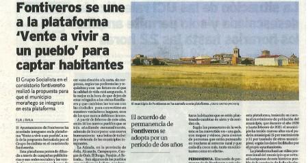 """FONTIVEROS EN LA PLATAFORMA """"VENTE A VIVIR A UN PUEBLO"""""""