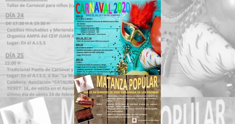 CARTEL CARNAVAL Y MATANZA