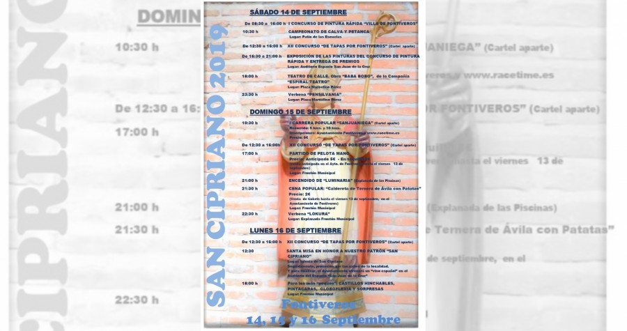 CARTEL FIESTA SAN CIPRIANO 2019