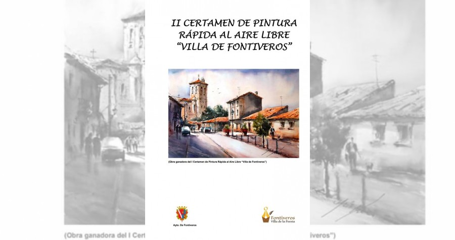 """CARTEL II CERTAMEN DE PINTURA RAPIDA """"VILLA DE FONTIVEROS"""""""