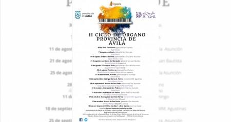 CARTEL II CICLO DE ÓRGANO DE LA PROVINCIA DE ÁVILA